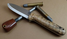 Rogue Bear Knives - Kephart - Spalted Maple Wood w/Black Liners - NEW