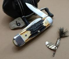 Schatt & Morgan Cutlery - #65 Baby Sunfish - Burnt Stag - 6