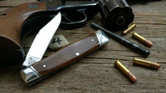 Schatt & Morgan Cutlery - #40 Gunstock - Smooth Amber Bone - 4 - NEW