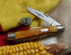 Schatt & Morgan Cutlery - Keystone Series  - 55 Medium Stockman - Burnt Orange Bone - 1 (NEW ARRIVAL)