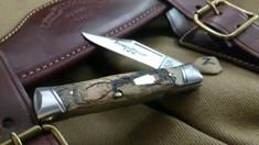 Schatt & Morgan Cutlery - #40 Gunstock - NEW Lightning Wood - 2 - NEW JSR EXCLUSIVE