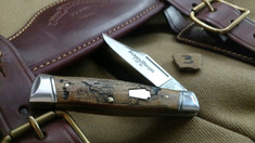 Schatt & Morgan Cutlery - #40 Gunstock - NEW Lightning Wood - 3 - NEW JSR EXCLUSIVE