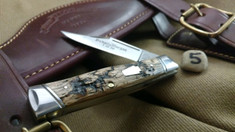 Schatt & Morgan Cutlery - #40 Gunstock - NEW Lightning Wood - 5 - NEW JSR EXCLUSIVE