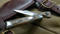 Schatt & Morgan Cutlery - #40 Gunstock - NEW Lightning Wood - 6 - NEW JSR EXCLUSIVE