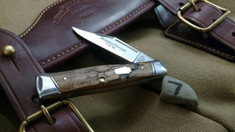 Schatt & Morgan Cutlery - #40 Gunstock - NEW Lightning Wood - 7 - NEW JSR EXCLUSIVE