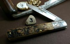 Schatt & Morgan Cutlery - #95 - Grand Daddy Barlow  - NEW Lightning Wood Handles - 3 - NEW JSR EXCLUSIVE