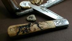 Schatt & Morgan Cutlery - #95 - Grand Daddy Barlow  - NEW Lightning Wood Handles - 4 - NEW JSR EXCLUSIVE