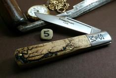 Schatt & Morgan Cutlery - #95 - Grand Daddy Barlow  - NEW Lightning Wood Handles - 5 - NEW JSR EXCLUSIVE