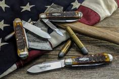 GEC - Northfield - #78 American Jack - Single Blade - Golden Brown Jig Bone