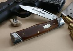 Schatt & Morgan Cutlery - #40 Gunstock - Smooth Amber Bone - 15 - NEW