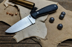 LT Wright Handcrafted Knives -  Frontier First - Dark Blue Shadetree Micarta - Flat Grind -  01 Tool Steel