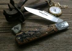 Schatt & Morgan Cutlery - #95 - Grand Daddy Barlow  - NEW Lightning Wood Handles - 14 - NEW JSR EXCLUSIVE