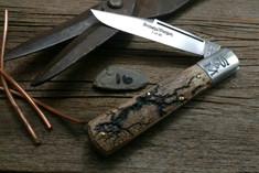 Schatt & Morgan Cutlery - #95 - Grand Daddy Barlow  - NEW Lightning Wood Handles - 16 - NEW JSR EXCLUSIVE