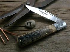 Schatt & Morgan Cutlery - #95 - Grand Daddy Barlow  - NEW Lightning Wood Handles - 17 - NEW JSR EXCLUSIVE