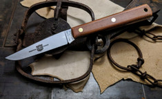 Great Eastern Cutlery - #H20 - Muskrat Hunter - Natural Canvas Micarta Handles