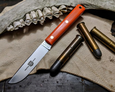 Great Eastern Cutlery - #H20 - Skinner Hunter - Orange Delrin Handles