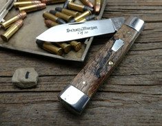 Schatt & Morgan Cutlery - #40 Gunstock - Single Spear Blade - NEW Lightning Wood - 1 - NEW JSR EXCLUSIVE