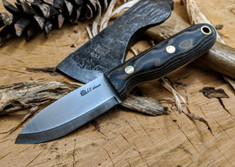LT Wright Handcrafted Knives  - Bush Baby  -  Python Micarta  - Matte Finish - Scandi Grind