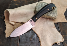 LT Wright Handcrafted Knives  - Lil MUK - Black Micarta -Matte Finish - D2 Tool Steel (New Arrivals)