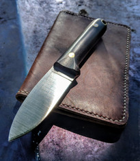 LT Wright Handcrafted Knives - THE NEXT GEN - African Black Wood w/Black Liners  - AEB-L SS - Flat Grind - NEW