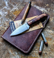 LT Wright  Handcrafted Knives - Patriot - NICE Koa Wood Handles -2 - Flat Grind - 01 Tool Steel - NEW