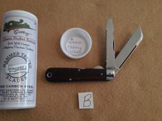Tidioute - #15 Electricians Knife - Ebony Wood  - B