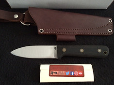 LTWK - NEW FLAT GRIND GENESIS - BEAD BLASTED BLACK MICARTA -IN STOCK