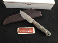 BHK - Cavello  -  Bead Blasted Brown/ Black Micarta