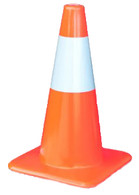 "Traffic Cone With Reflective Collar 28"" - 7#"