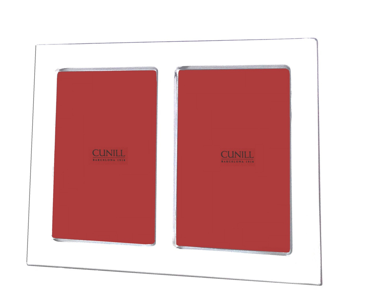 Cunill Sterling Silver Plain Double 2x3 Picture Frame