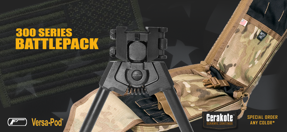 300 Series Battlepack Bipod