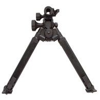 "The 50 Series friction controls allow the bipod to be positioned and locked in place, while still offering slight movement to quickly aquire targets and follow up shots. The pan and tilt knobs can be adjusted to user preference, and offer greater accuracy over our standard Classic Series bipods. Heavy-duty square legs can be adjusted fro 9"" - 12"" in 1/2"" increments, and positioned forward or back when folding. All-Steel construction. Rock solid and built to last for generations."
