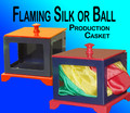 Jumbo Flaming Silk and Ball Casket - Device for Magic Tricks