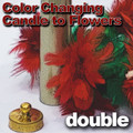 Color Changing Candle To 2 Flowers