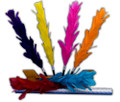 Color Changing Feathers with Wood Stand