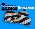 Zebra Silk Streamer 4 In. x 16 Ft.  - Silk for Magic Trick