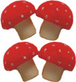 Set of 4 Sponge Mushrooms by Alan Wong