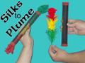 Silks to Flowers (Plume) Magic Trick with 3 Silks