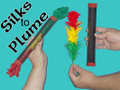 Silks to Flowers (Plume) Magic Trick with 3 Silks