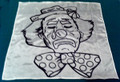 Duane Laflin Silk For Magic Tricks - B & W - Clown 18""