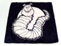 Duane Laflin Silk For Magic Tricks - B & W Caterpillar - 18 Inch