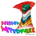Rainbow Waterfall with Silk by Mikame - Large
