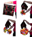 Four Flower Bouquets with Production Foulard
