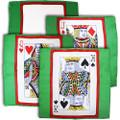 Set of Four 18 Inch Card Silks by Sitta Magic (Green Background)