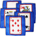 Set of Five 24 Inch Card Silks by Sitta Magic (Blue Background)