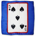 24 Inch Card Silk by Alberto Sitta Magic - Five of Spades