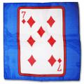 24 Inch Card Silk by Alberto Sitta Magic - Seven of Diamonds