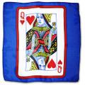 24 Inch Card Silk by Alberto Sitta Magic - Queen of Hearts