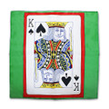 18 Inch Card Silk by Alberto Sitta Magic - King of Spades