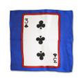 12 Inch Card Silk by Alberto Sitta Magic - 3 of Clubs